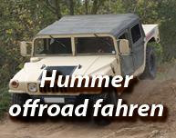 Hummer offroad im Gelände fahren